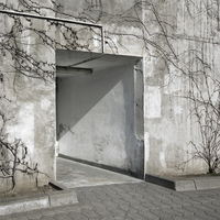 Entrances to bomb shelter, Hamburg, Germany