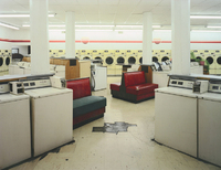 Laundromat, Sunset over Dryers, Columbus, Ohio