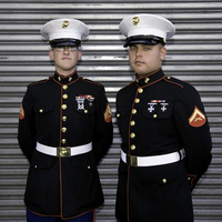 Two Young Marines, New York City