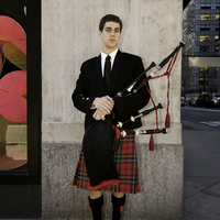 Bagpiper on 5th Ave, New York City