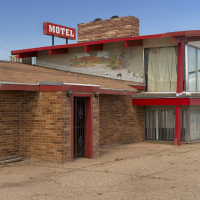 Red Sign Motel, New Mexico