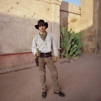 Cowboy in Alley, Phoenix, Arizona