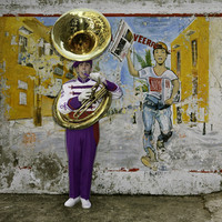 Tuba Player & Notiver Paper Mural