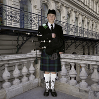 Bagpiper on Balcony, Vienna Austria